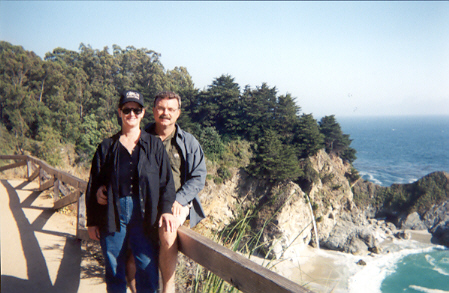 Geo & Deb in Big Sur